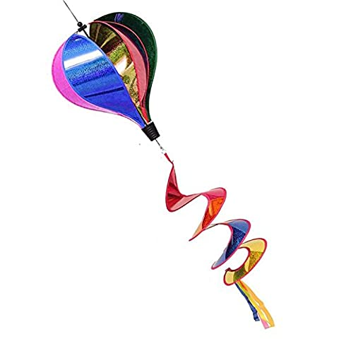 Balloon Stripe Windsock Wind Spinner Garden Colorful Rainbow Rightly Colored Hot Air With Six Striped Swen Panels And A Flowing Curly (Bunny Air Dancer)