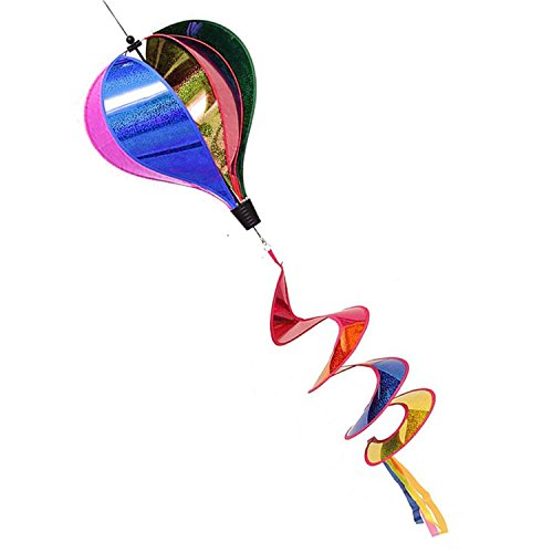 Wind Sock Costume (Balloon Stripe Windsock Wind Spinner Garden Colorful Rainbow Rightly Colored Hot Air With Six Striped Swen Panels And A Flowing Curly Tail.)