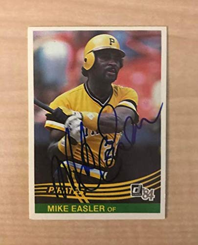 MIKE EASLER PITTSBURGH PIRATES SIGNED AUTOGRAPHED 1984 DONRUSS CARD #444 W/COA