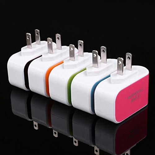 KOKOBUY USB Charger Cube,Wall Charger Plug,3-Port USB Wall Home Travel AC Charger Adapter for Phone US Plug