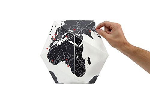 Here Foldable Personal Globe ~World by Countries ~3 Dimensional Quality Graphic Paper Globe ~ Small ~