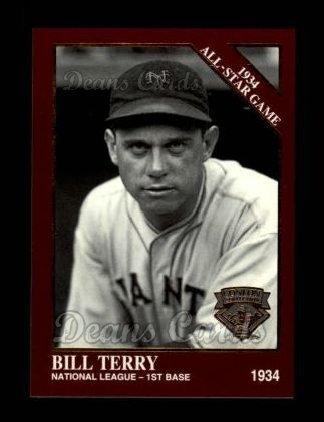 1994 Conlon Burgundy # 1100 1934 All-Star Game Bill Terry New York Giants (Baseball Card) Dean's Cards 8 - NM/MT Giants