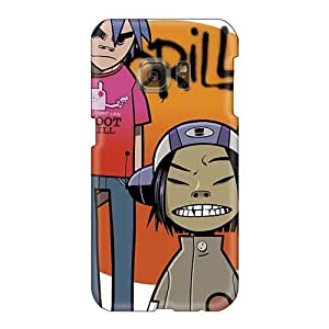 AlainTanielian Samsung Galaxy S6 Perfect Hard Cell-phone Cases Support Personal Customs High Resolution Gorillaz Band Image [csg8529vUNM]