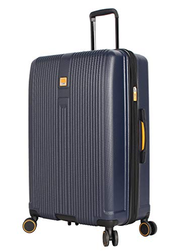 Lucas Luggage Hard Case Large 31' Expandable Suitcase With Spinner Wheels (31in, Allure Navy)