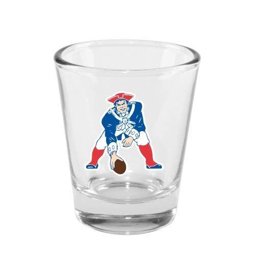Boelter New England Patriots 2 Ounce Throwback Logo Shot Glass (New England Sports Shot Glasses)
