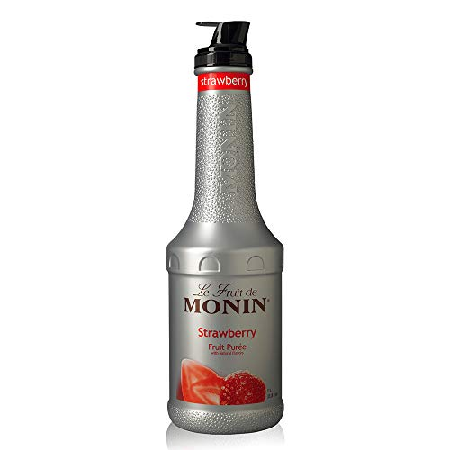 Monin - Strawberry Purée, Juicy and Sweet, Great for Sodas and Teas, Gluten-Free, Vegan, Non-GMO (1 Liter)