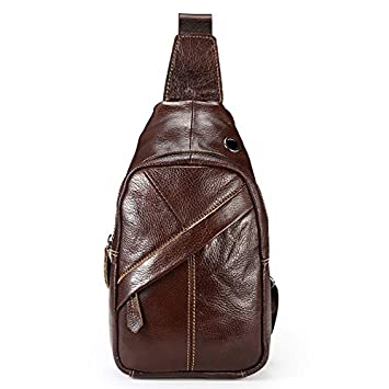 3a8f51faa8 Image Unavailable. Image not available for. Color  YChoice Fashion Men s  Bag Men s Casual PU Leather Chest ...