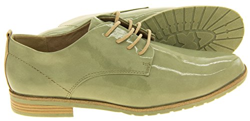 Tozzi ata faux para verano la Marco Casa zapatos del arriba el del de moneda Mujer del cuero los brogue 4AywS5gBq