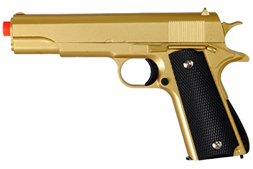 M1911 Replica Full Metal Two Tone Gold & Black Airsoft Spring Pistol 6MM BB Gun by UKARMS