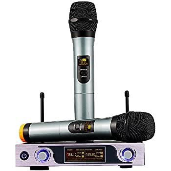 archeer bluetooth wireless microphone system vhf dual chanel handheld micorphone. Black Bedroom Furniture Sets. Home Design Ideas