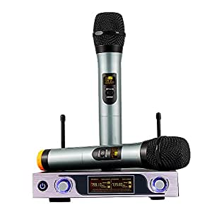 archeer vhf wireless microphone system handheld wireless microphones for outdoor. Black Bedroom Furniture Sets. Home Design Ideas