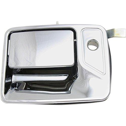 Evan-Fischer EVA18772039339 Door Handle for 2004 Ford Excursion XLS 5.4L Front Left Side Exterior Plastic Chrome w/ Keyhole - Excursion Chrome Door Handle