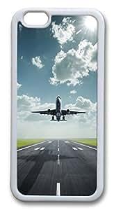 iphone 6 plus 5.5inch Case Amazing Lifting Off Airplane TPU Custom iphone 6 plus 5.5inch Case Cover Whtie wangjiang maoyi