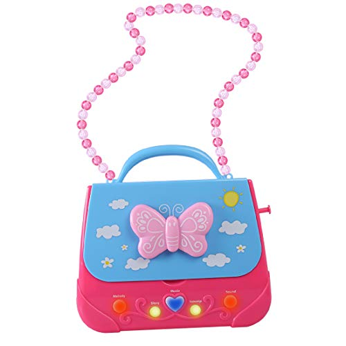 XSHION Karaoke Machine for Girl,Children Portable Musical Bag Karaoke Machine Toys with Microphone Karaoke Player Connect MP3 Smartphone - Butterfly by XSHION (Image #7)