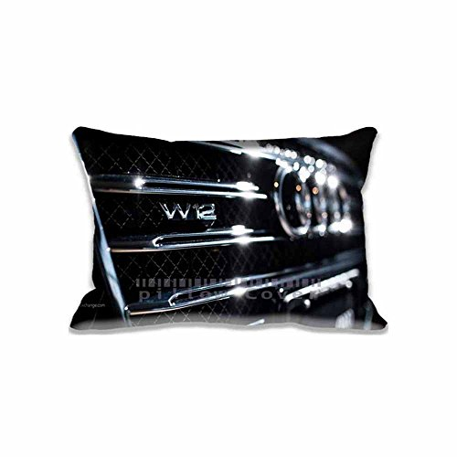 Audi A8 W12 Badge Personalized Pillow Cases Diy Photo Pattern Audi Unique Couch Pillow Covers with Zippers , Cars Custome Pillows Decor Case for Sofa (A8 Audi Set)