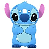 Blue Stitch Case for Samsung Galaxy J5 2015 /Grand Prime G530,3D Cartoon Animal Cute Soft Silicone Rubber Kawaii Character Cover,Funny Cool Skin Cases for Kids Child Teens Girls Guys(Galaxy J5 G530)
