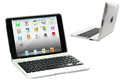 DAXXIS iPad2/3/4 Bluetooth Wireless Keyboard Clam Cover Case with Stand for iPad 2/3/4. Built In 4000 mah Power Bank Lithium Battery & Stand with 135 Degrees Adjustable Angles. (iPad 2/3/4, #White) by DAXXIS (Image #6)