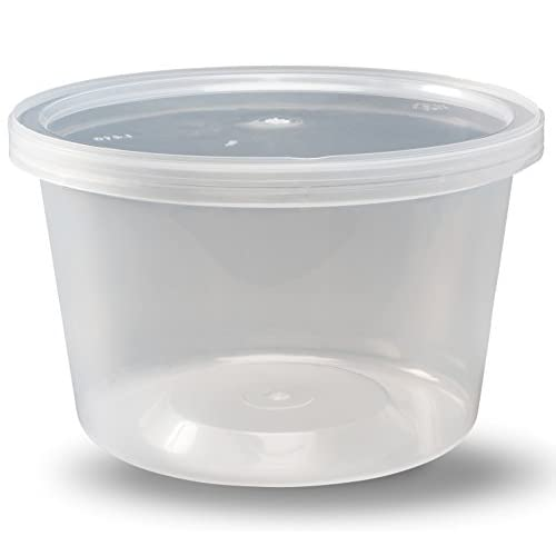 32 oz Heavy Duty Large Round Deli Food//Soup Plastic Containers w// Lids BPA free