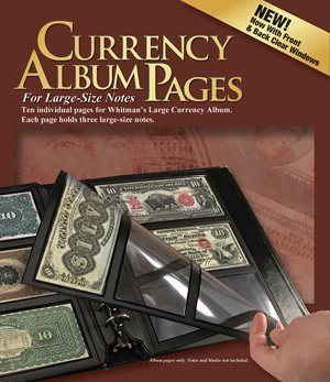 Whitman Premium Currency Album Refill Pages Large Notes - By Whitman