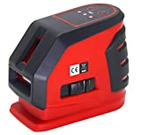 LotFancy Self-Leveling Cross Line Laser Level Kit with Case, Range 65 Ft., Accuracy 1/4 Inch at 100Ft., Ideal for Construction, DIY, Craftsmen and Professional Use