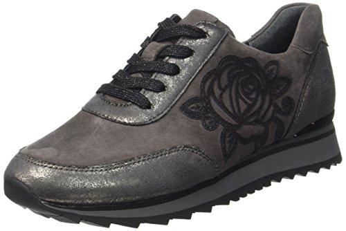 Gris Derby grey Shoes Dark Casual Cordones Gabor para Gabor de Mujer Zapatos Carbone Y6qw7z7U