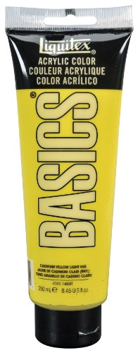 Liquitex BASICS Acrylic Paint 8.45-oz tube, Cadmium Yellow Light Hue
