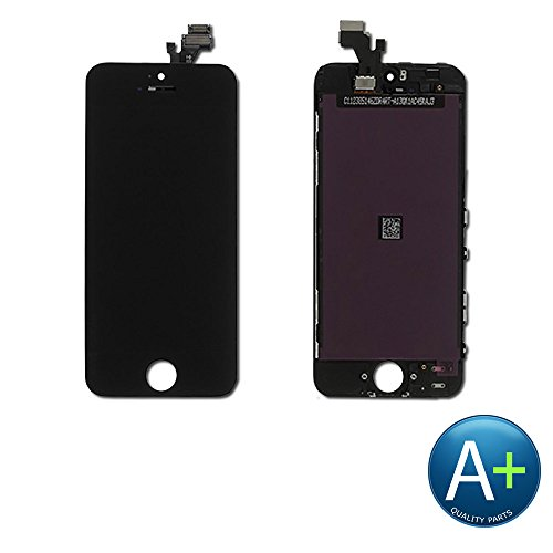 (Group Vertical LCD Display Screen with Touch Screen Digitizer for iPhone 5 - Black)