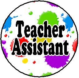 amazon com teacher assistant 1 25 pinback button badge pin