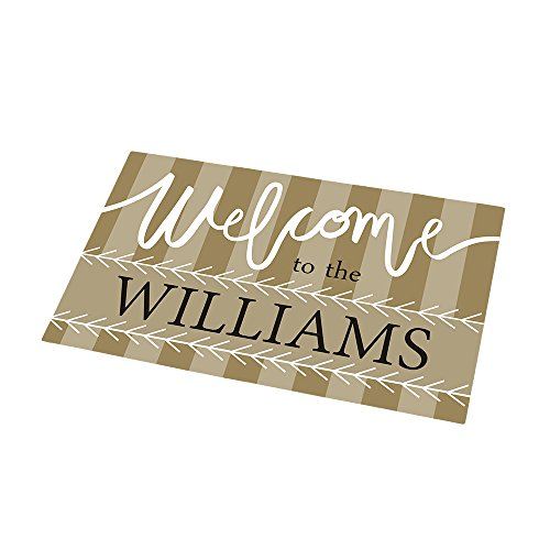GiftsForYouNow Welcome to Personalized Doormat