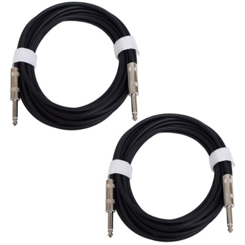 GLS Audio 20ft Guitar Instrument Cables - 1/4