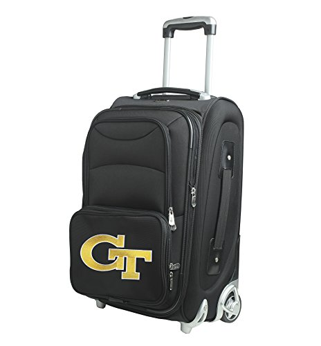 NCAA Georgia Tech In-Line Skate Wheel Carry-On Luggage, 21-Inch, Black by Denco