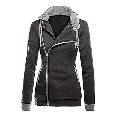 Amiley Women Fall Hoodies,Women Fashion Side Full Zip Hoodie Tops Hooded Sweatshirt Outwear Jacket Coat: Shoes