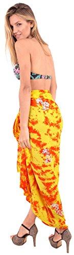 envuelva el pareo ropa de playa traje de baño de la falda de las mujeres del traje de baño cubrir el desgaste desgaste de la piscina pareo complejo traje de baño amarillo