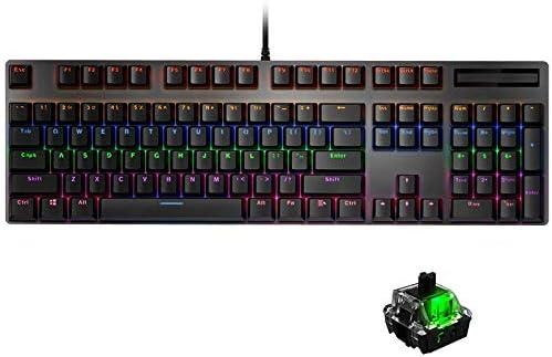 12カラフルBacklits、/ 8月10日マックXP Win7のための104のキーアンチゴースト、人間工学に基づいたUSB有線ブラックスイッチゲーミングメカニカルキーボード