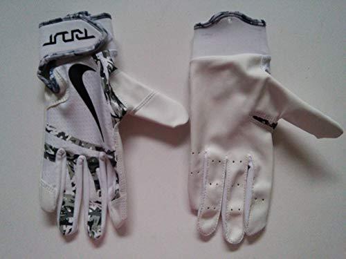 Nike Youth Trout Edge Batting Glove White/Black Size Medium