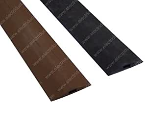 d 1 rubber duct cord cover 10 ft brown home audio theater. Black Bedroom Furniture Sets. Home Design Ideas