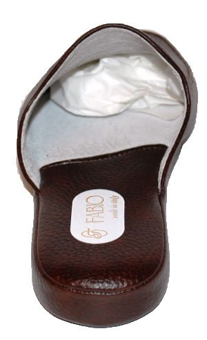 Brown Leather fotocamera Slippers Fabio 0550 Slippers per Blue Extension Home w11ItqRa