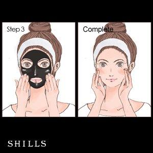 SHILLS Black Mask, Charcoal Peel Off Mask, Peel Off Mask, Charcoal Deep Pore Cleansing Mask, Blackhead Remover Peel Off, Blackhead Purifying Peel Off Mask and Brush Set by SHILLS (Image #7)