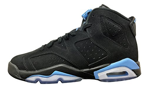 Jordan Retro 6'' UNC Black/University Blue (Big Kid) (7 M US Big Kid) by NIKE