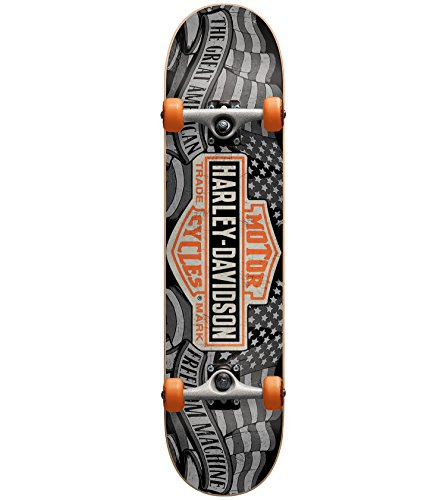Darkstar Harley Davidson Freedom Complete Skateboard, Black, MD7.25 by Darkstar