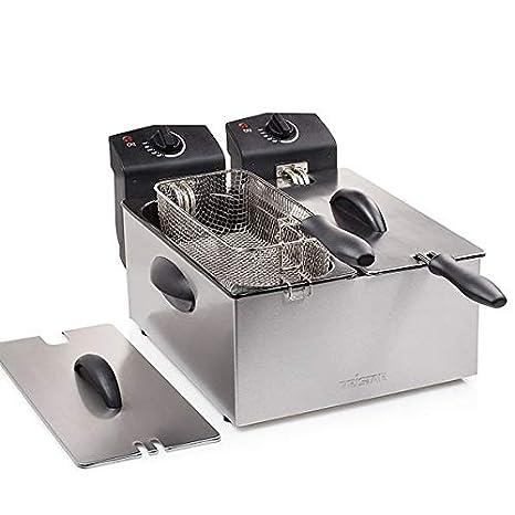 Eurowebb freidora de Doble Compartimento - pequeño electrodoméstico Cocina eléctrica: Amazon.es: Electrónica