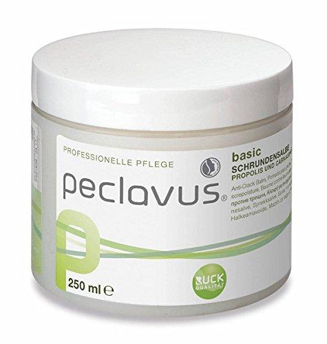 Peclavus Basic Schrundensalbe Propolis u. Canaubawachs, Salbe gegen Hornhaut und Risse an der Fußhaut, 250 ml Ruck