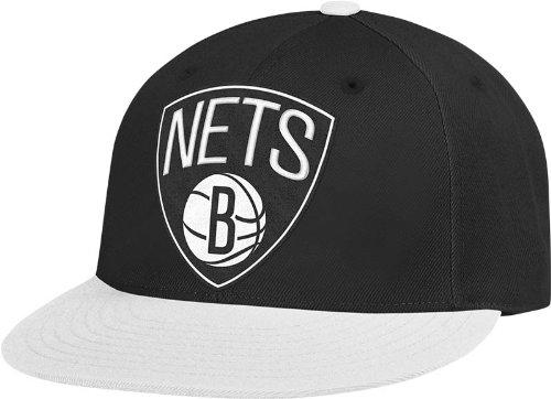 adidas NBA Brooklyn Nets Flat Brim Flex Fit Wool Hat, Large/X-Large by adidas