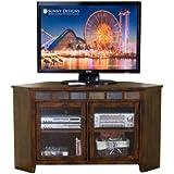 Sunny Designs Santa Fe 55 in. Corner TV Console