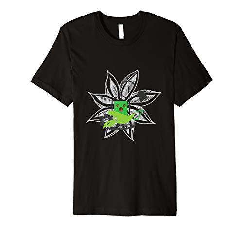(Herbal Tea Green Tea Bag In Front Of Flower Sharing TShirt)