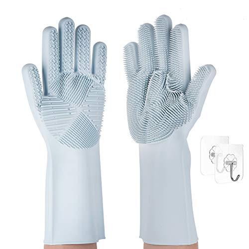 - Magic Saksak Reusable Silicone Dishwashing Gloves Scrubbing Cleaning-Dish Wash , Heat Resistant Dishwashing Cleaning Brush (Blue)