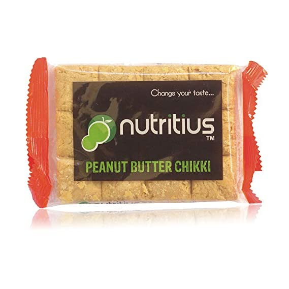 Nutritius Peanut Butter Chikki, 125g (10 Packs) - Family Pack