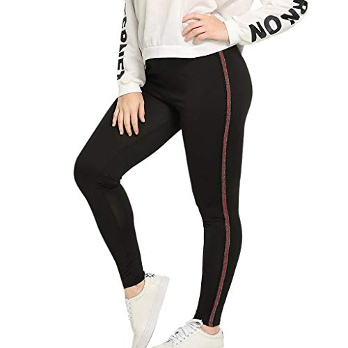 (iHPH7 Women's Plus Size Stretch Legging Sequined Elastic Fitness Sports Leggings Yoga Athletic Pants (XXXXL,4- Red))