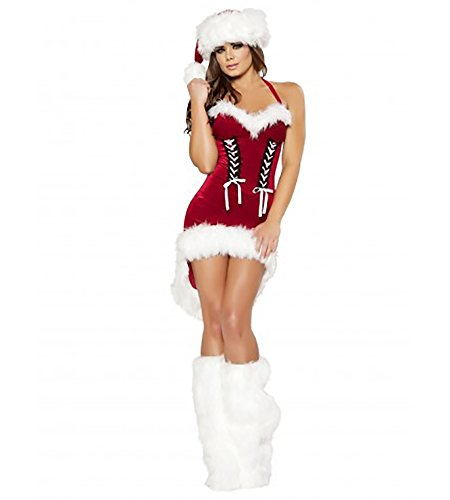 Sexy Women's 1pc Santa's Snowflake Christmas Costume (L)