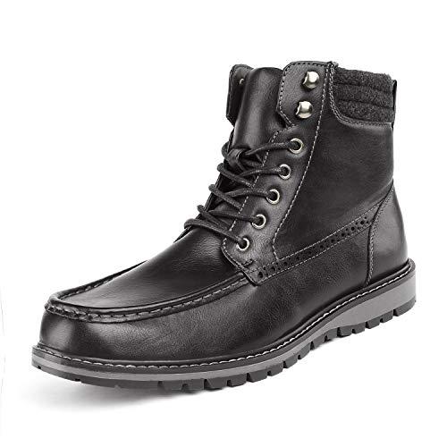 - Bruno Marc Men's Apache-02 Black Faux Fur Lined Motocycle Combat Oxford Ankle Boots Size 10 M US